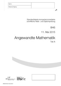 Berufsreifeprüfung Mai 2015