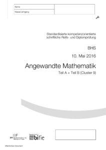 Berufsreifeprüfung Mai 2016