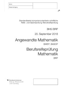 Berufsreifeprüfung September 2018
